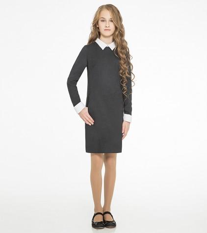 Платье школьное для девочки серое