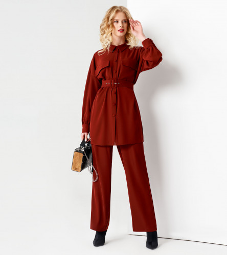 Комплект женский (блузка, брюки) ПА57920z